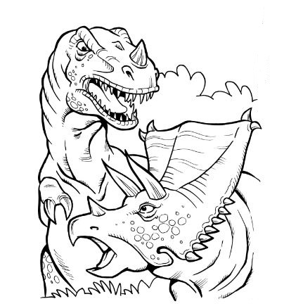 Battle T Rex Coloring Page Game