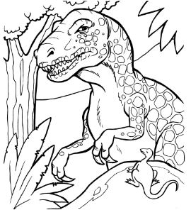 Tyrannosaur Rex Family Coloring Page Game