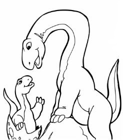 Brachiosaurus Family Coloring Page Game