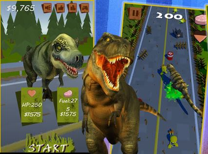 Dinosaur VS Zombie Game
