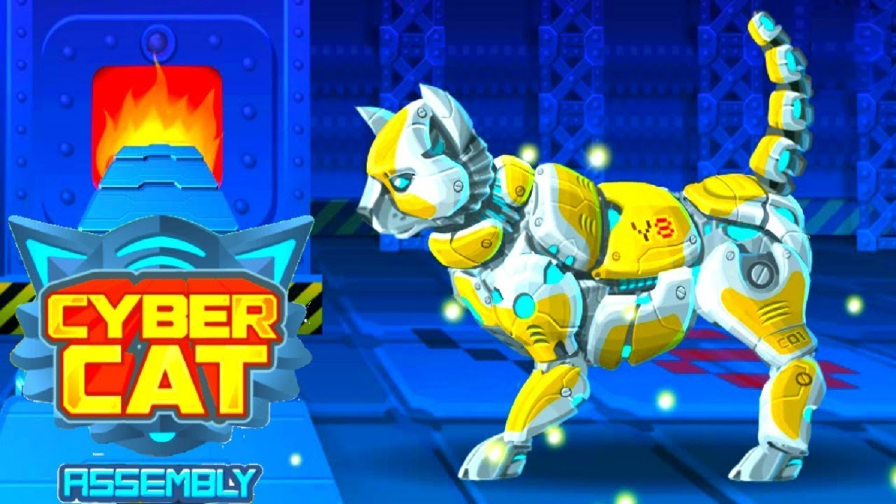 Cyber Cat Assembly Robot Game