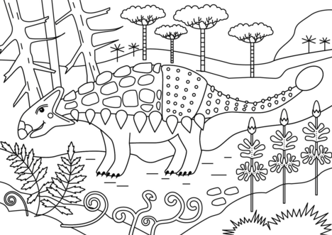 Ankylosaurus Coloring Page Game