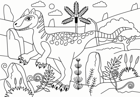 Allosaurus Coloring Page Game
