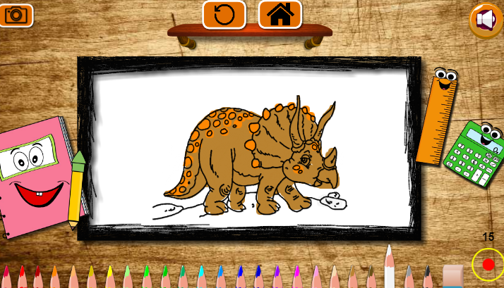 Back To School Coloring Book Game