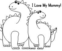 Dino Coloring Page ILoveMyMommy Game