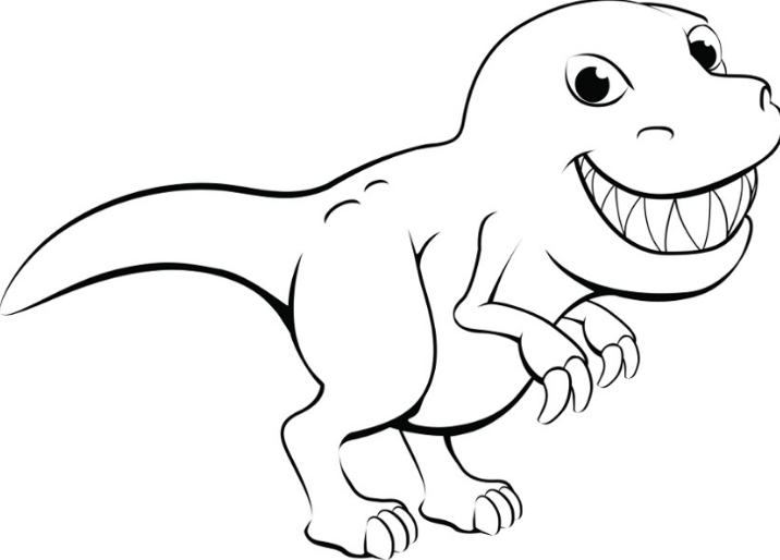 Cute Dino Coloring Page Game