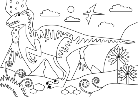 Velociraptor Dinosaur Coloring Page Game