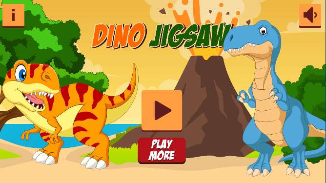 Dino Jigsaw Game