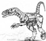 Drawn Dinosaur Robot Coloring Page Coloring Page