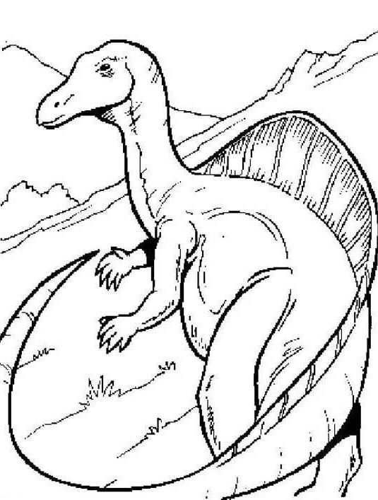 Dinosaur With a Long Tail Coloring Page