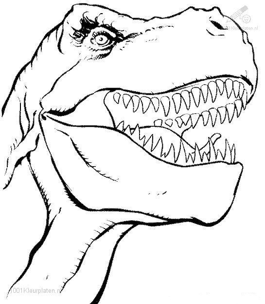 The Dinosaur Head Coloring Page