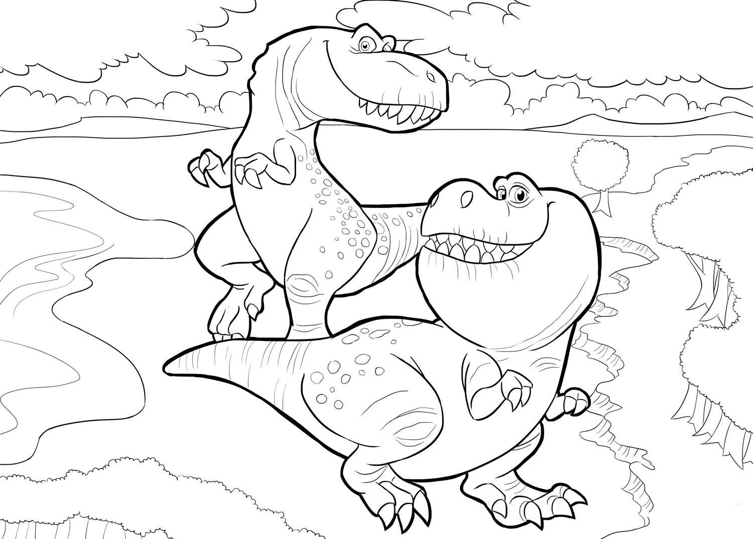 The Good Dinosaur 3 Coloring Page