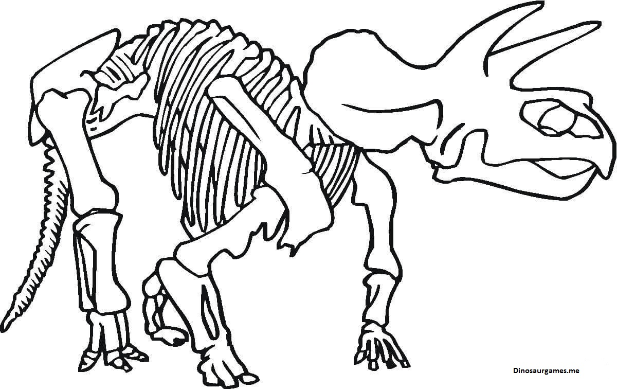 Dinosaur Only Bones Left Coloring Page