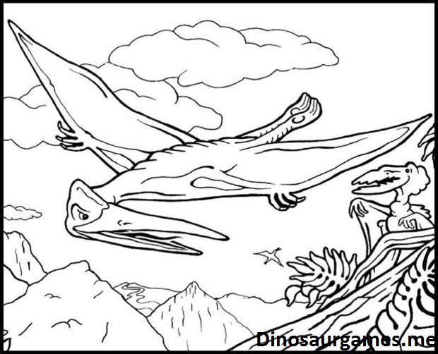 Dinosaur Flying Reptile Coloring Page