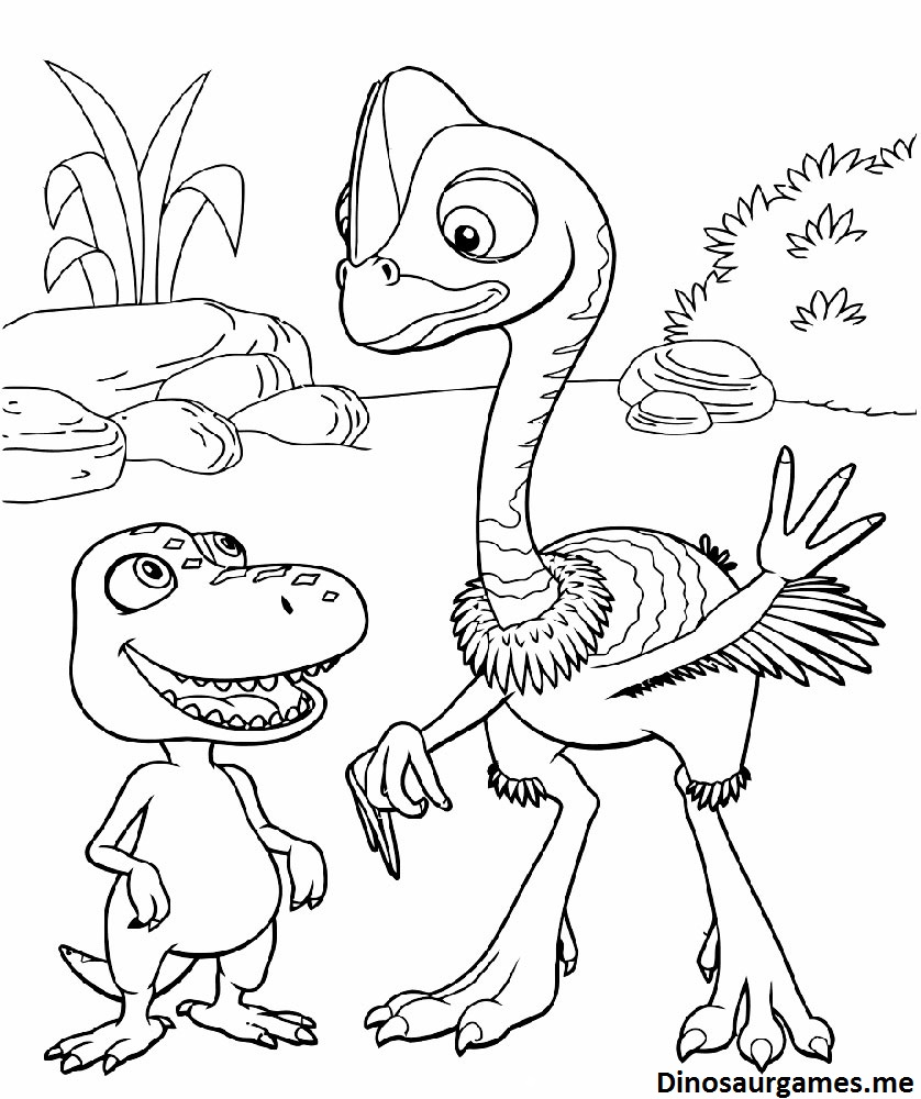 Dinosaur Train 3 Coloring Page
