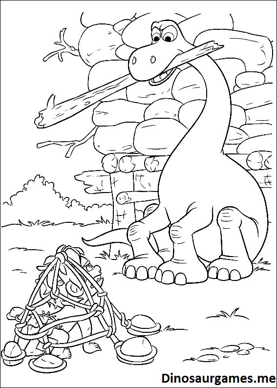 The Good Dinosaur 6 Coloring Page