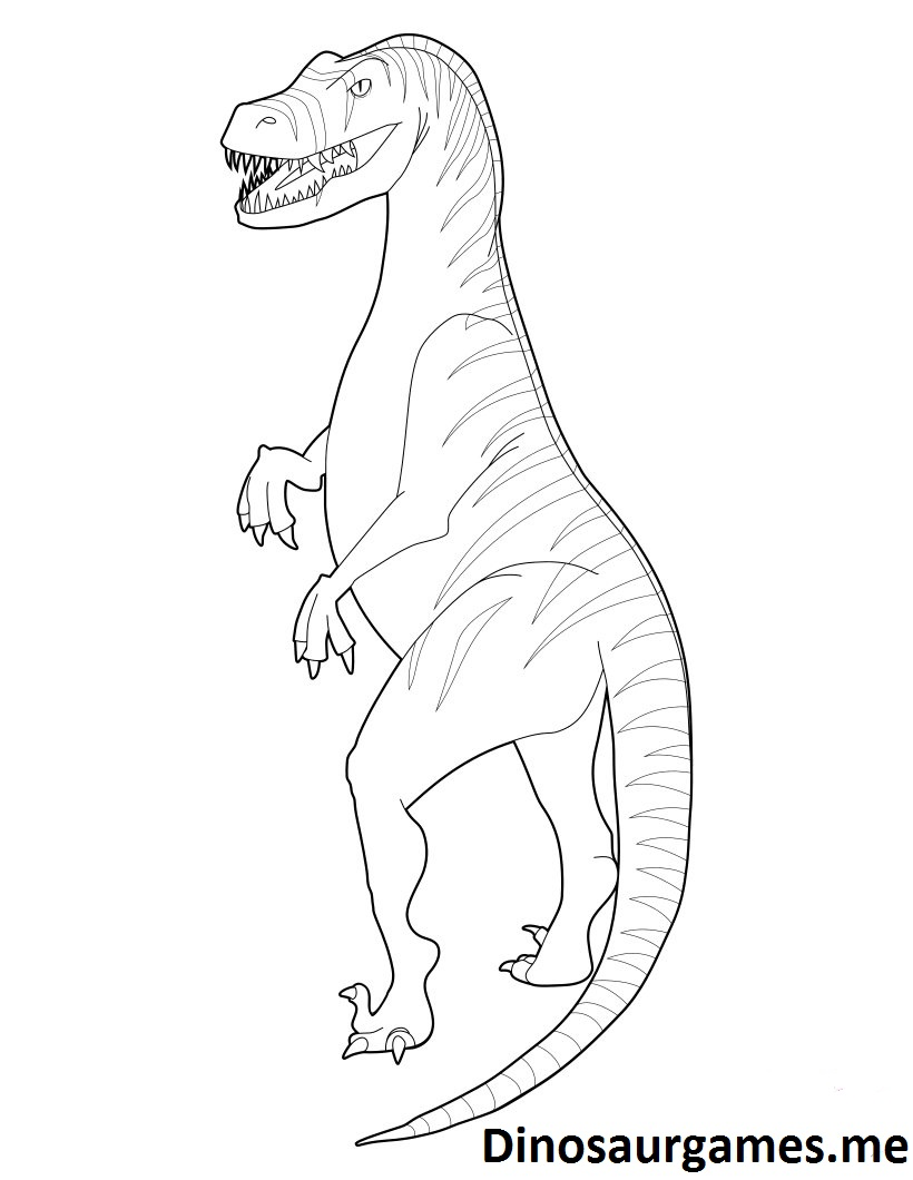 Dinosaur Velociraptor 2 Coloring Page