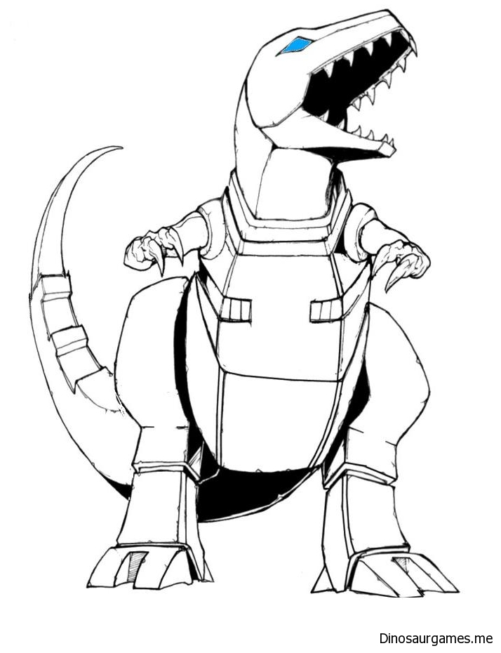 Dinobots Grimlock Tattoo Coloring Page