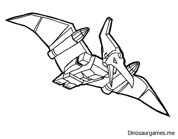 Swoop Dinobot Coloring Page
