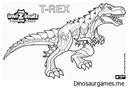 T Rex 2 Coloring Page