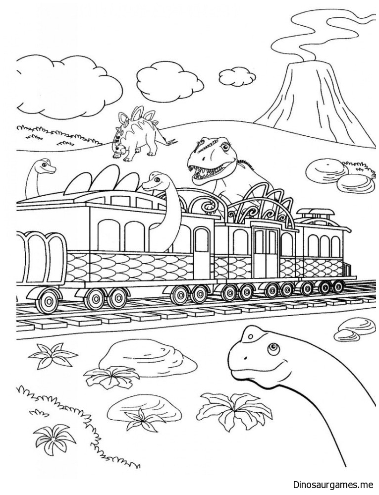 Dinosaur Train 4 Coloring Page