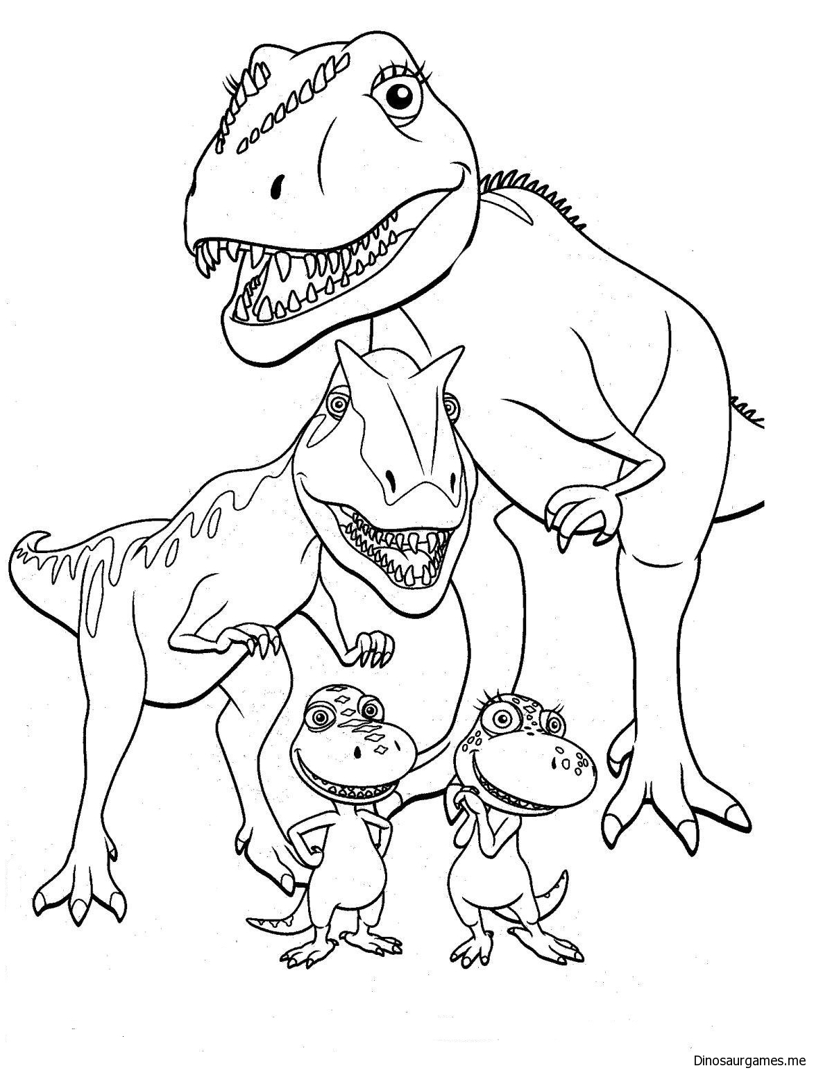 Dinosaur Train 5 Coloring Page