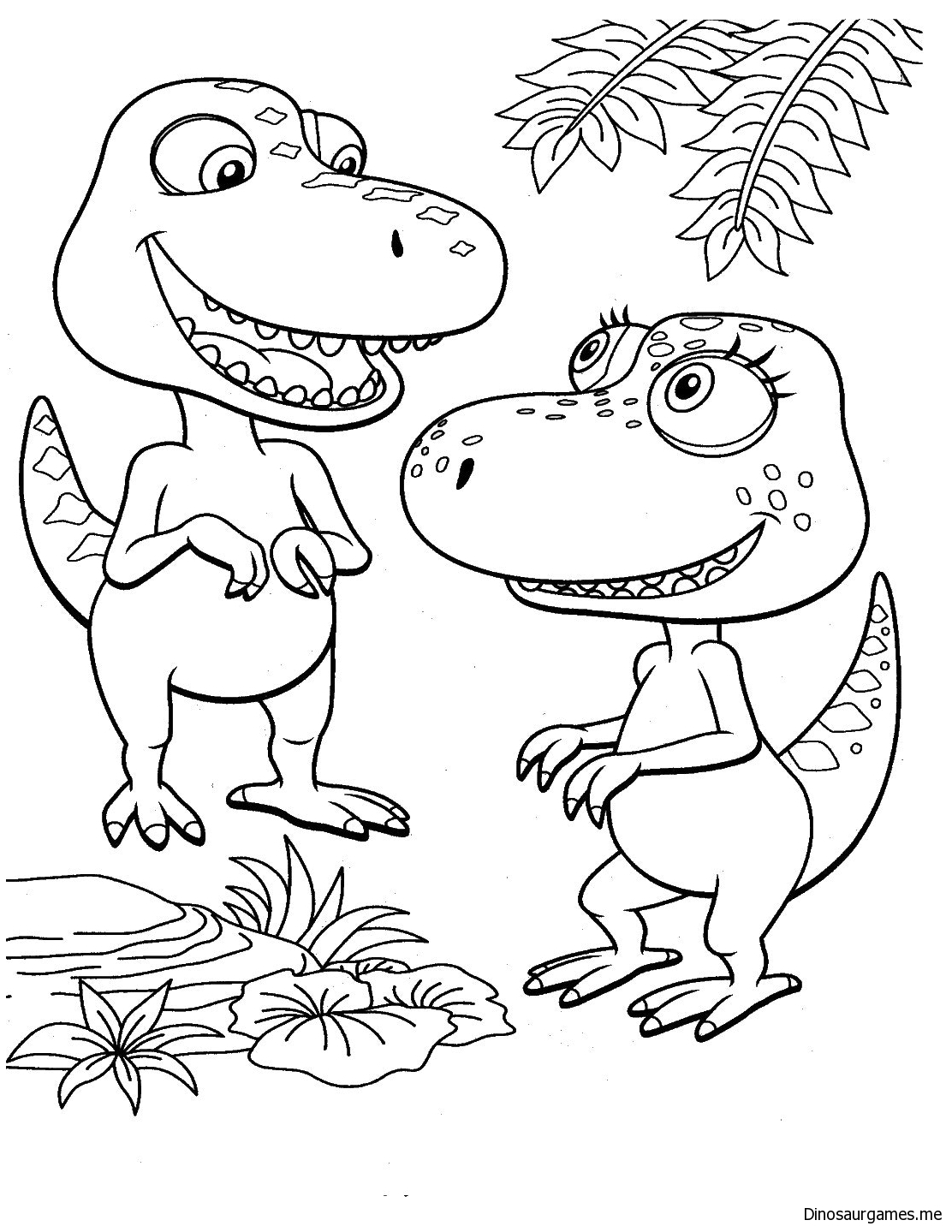 Dinosaur Train 6 Coloring Page