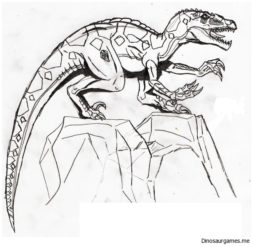 Climbing Dinosaurs Coloring Page