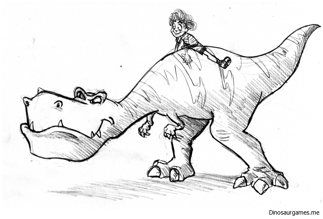 Simple T Rex Coloring Page