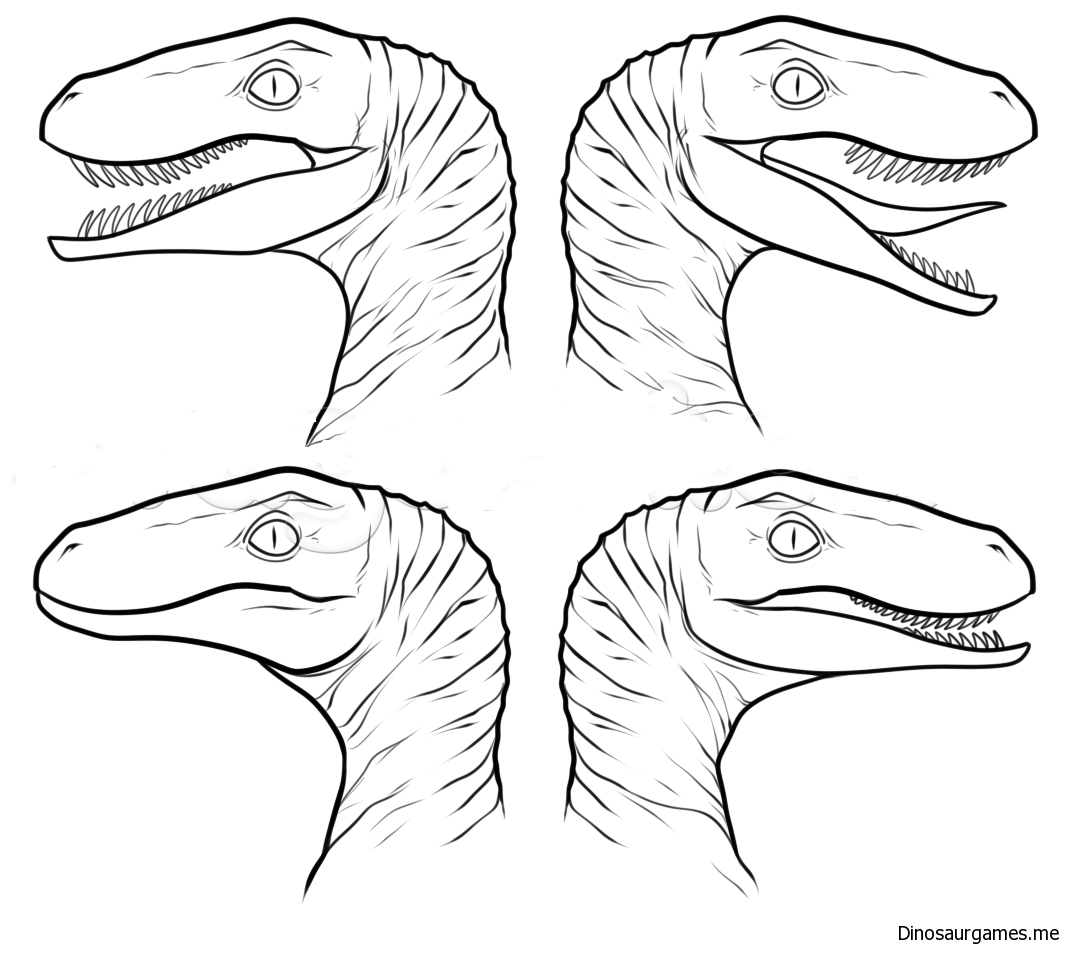 Surprising Raptor Squad Coloring Page