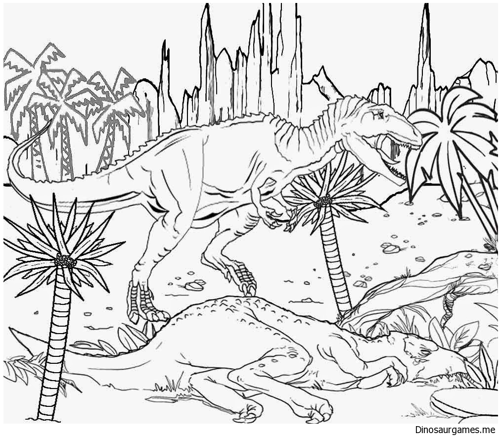Dinosaurs and Life Coloring Pages