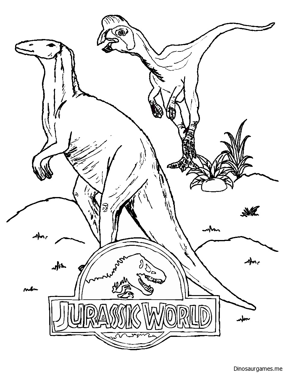Jurassic World 2 Coloring Page - Dinosaur Coloring Pages