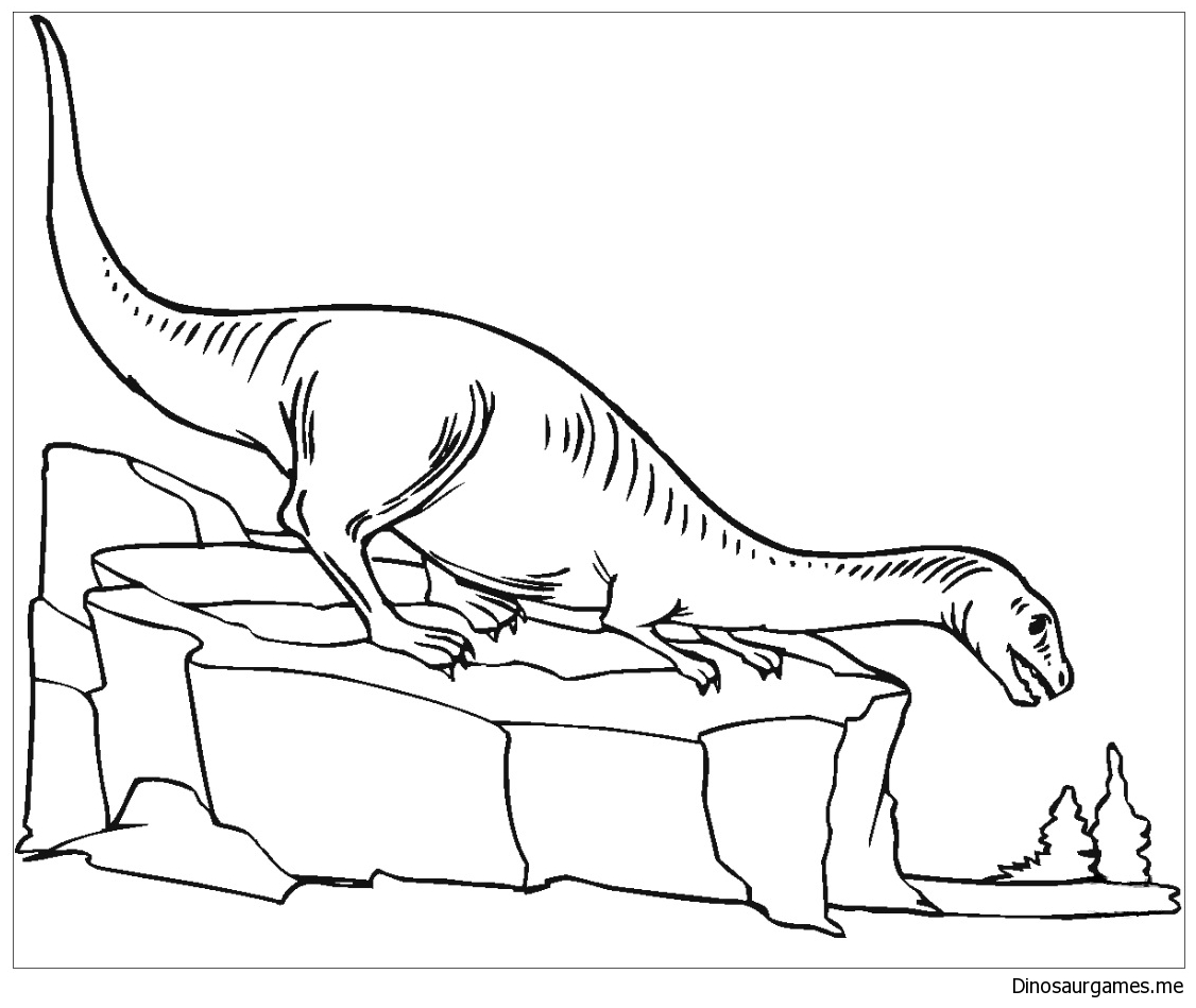 Plateosaurus 2 Coloring Page