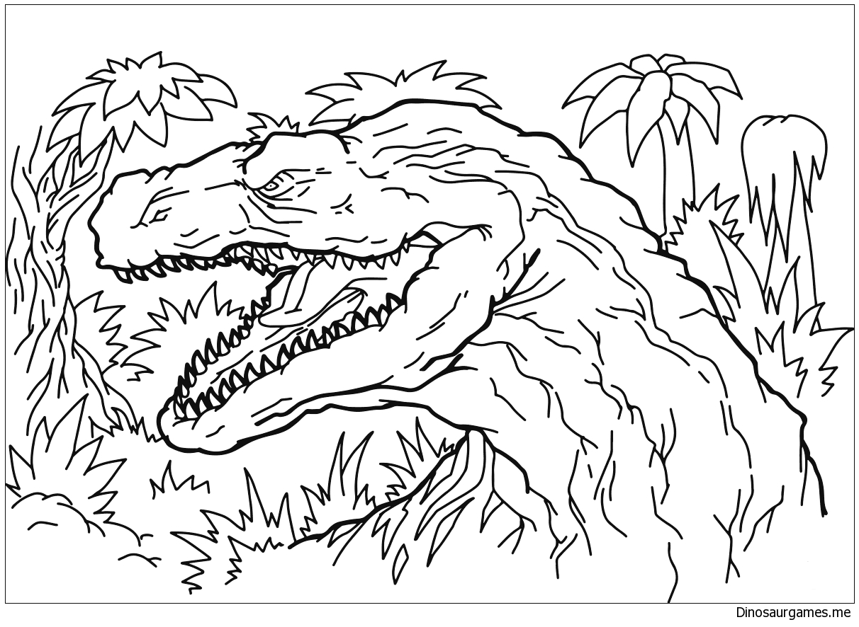 Afrovenator Coloring Page