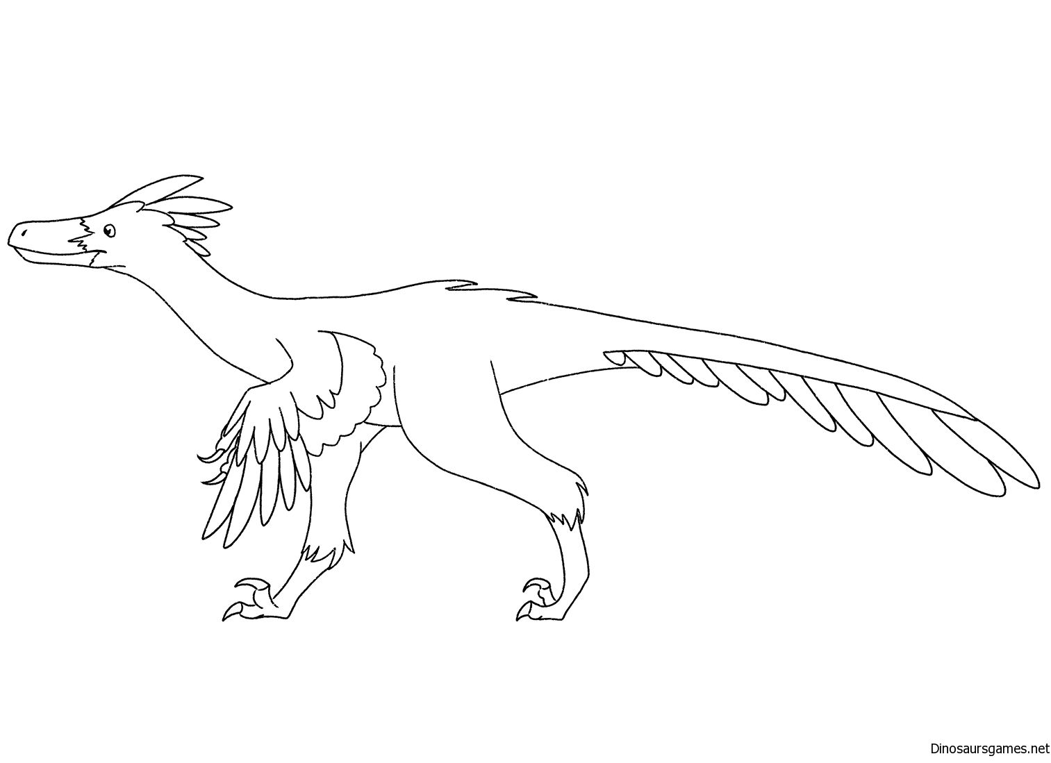 Velociraptor Coloring Page 2