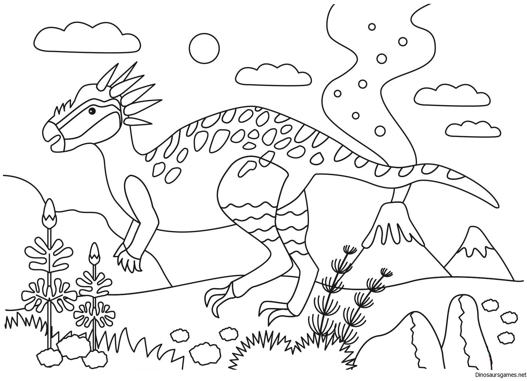 Stygimoloch Dinosaur Coloring Pages