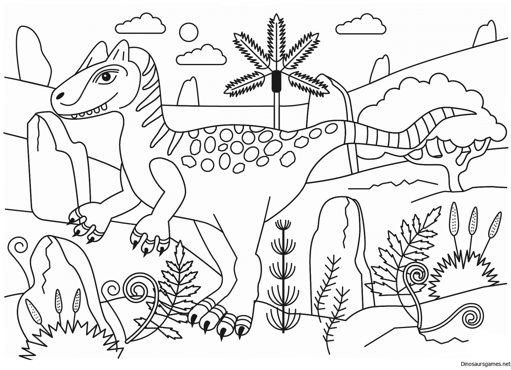 Allosaurus Coloring Page - Dinosaur Coloring Pages