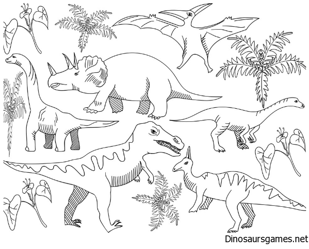 Dinosaur Coloring Page For Adults