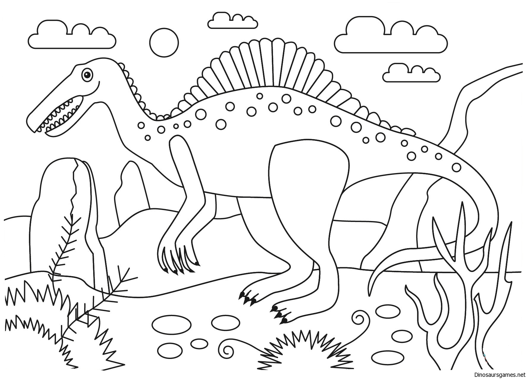 spinosaurus dinosaur coloring page dinosaur coloring pages. Black Bedroom Furniture Sets. Home Design Ideas