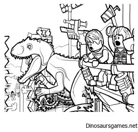 LEGO Jurassic World Dinosaur Coloring Page
