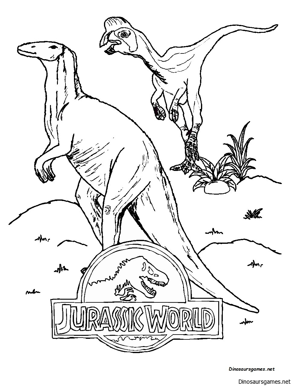 Jurassic World 2 Coloring Page