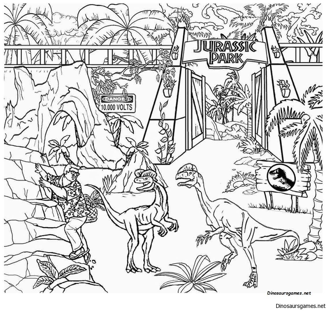 Jurassic World Coloring Page