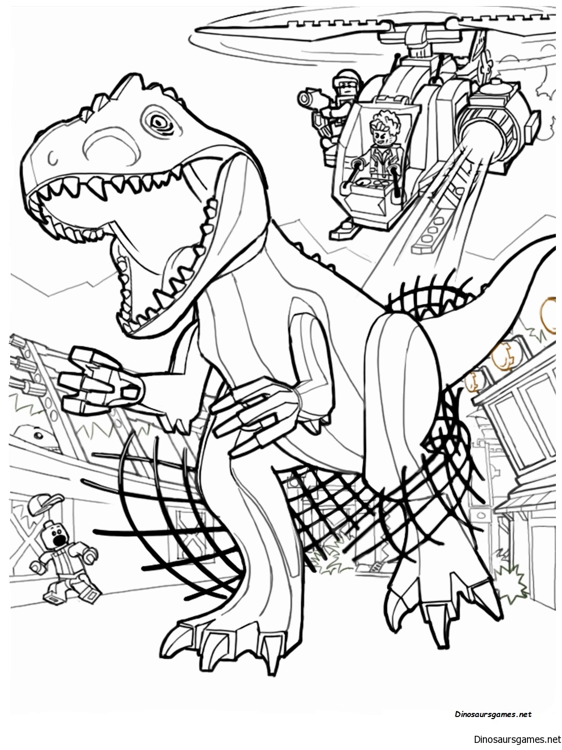 Jurassic Park Raptor Coloring Page