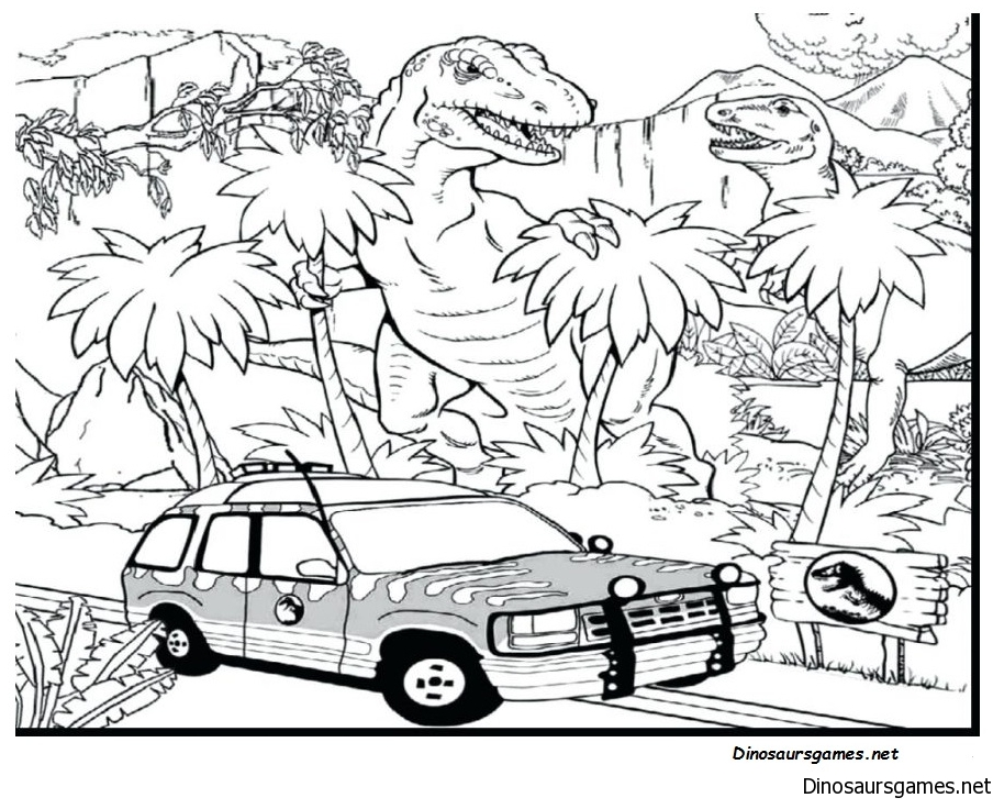 Jurassic Park 2 Coloring Page