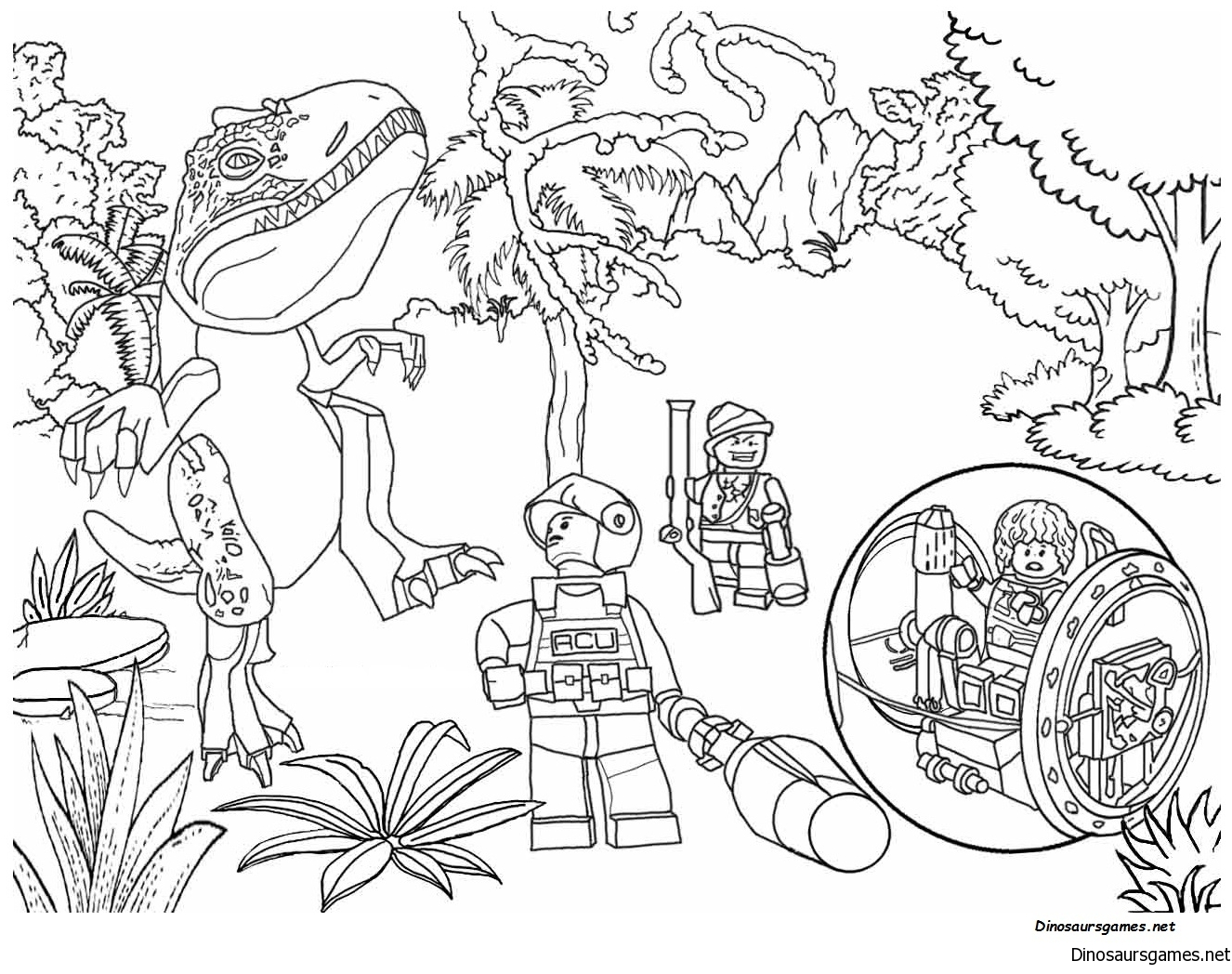 Jurassic Park 5 Coloring Page