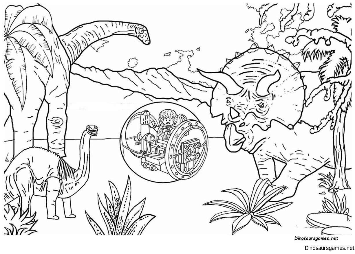 Jurassic Park 4 Coloring Page