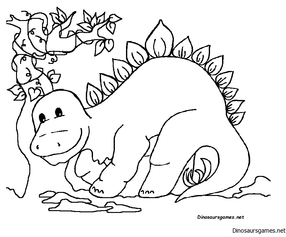 Cute Dinosaur 2 Coloring Page