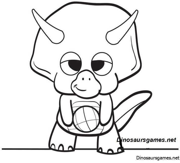 Inspirational Cartoon Dinosaur Coloring Page