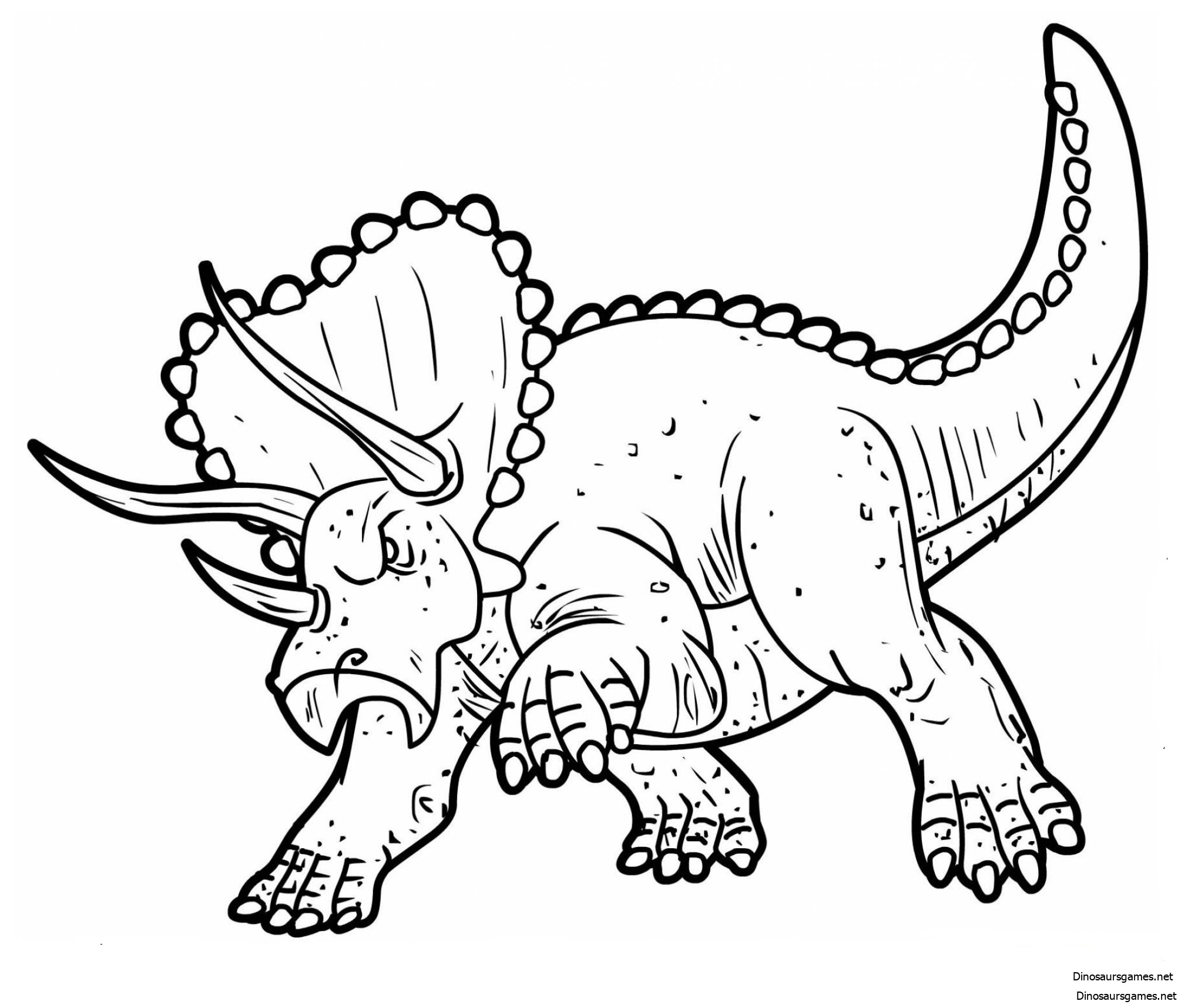 Triceratops 2 Coloring Page