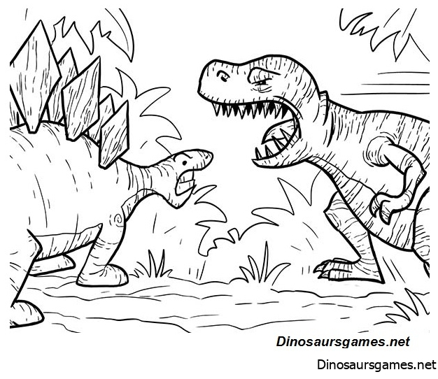 T Rex Had A Lot Of Sharp Teeth Coloring Page